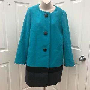 Kate Spade Garby Color Block Wool Coat 12